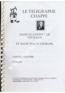 """""""Le télégraphe Chappe dans le canton de Vitteaux et dans toute l'Europe"""" par Jean Laibe"""